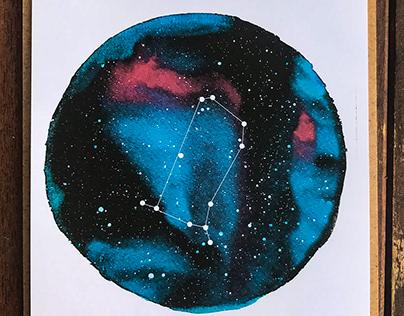 Zodiac Star Signs Art Print