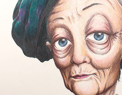 Maggie Smith Caricature
