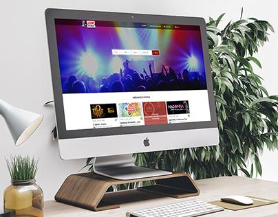 Loop Ticket - Design de interface de loja virtual