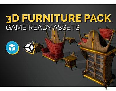 3D Furniture Pack - Game Ready Assets