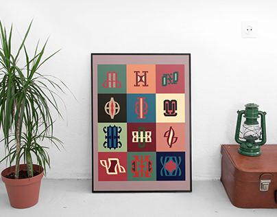 cyrilic themed symbols