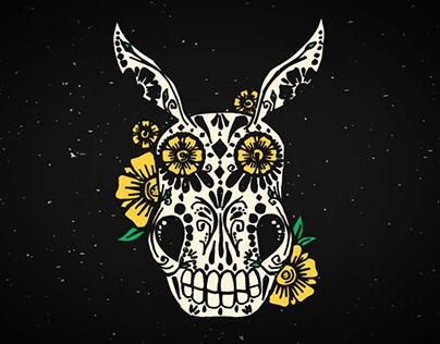 Dia de los Muertos Donkey