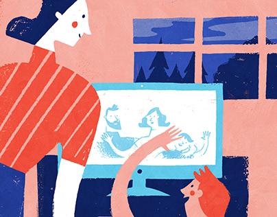 Illustrations for the magazine Gemenskap & påverkan