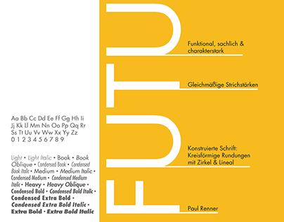 Typografie-Projekt: Futura vorstellen