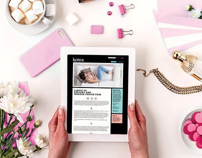 Kotex Arabia Website Design