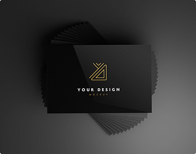 10 Free black business card mockups
