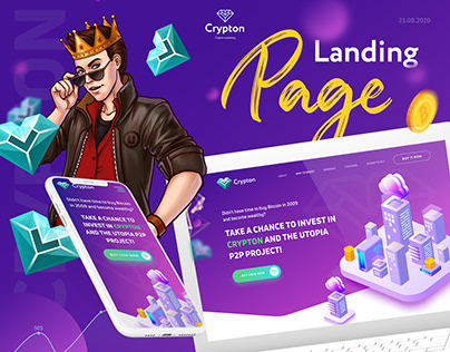 Crypton - Crypto Currency Landing page