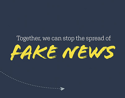 Together, we can stop the spread of fake news