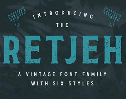 Retjeh - Vintage Font Family