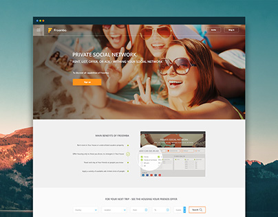 Private social network Landing Page
