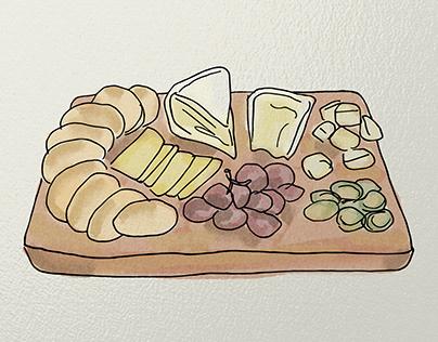 French Bakery Illustration