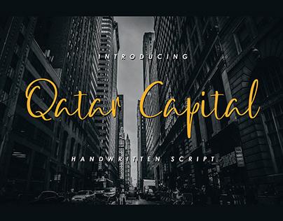 Qatar capital handwritten script