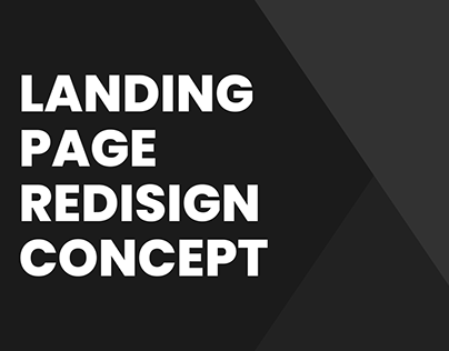Landing page redisign concept for web
