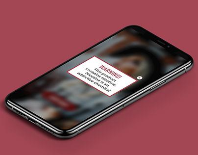 Responsive e-commerce web design - Vaping
