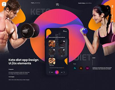 Keto diet plan app Design Ui /Ux elements