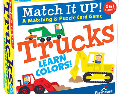 Trucks Matching Card Game & Puzzle