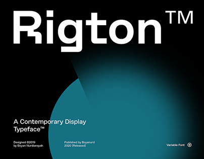 Rigton Typeface