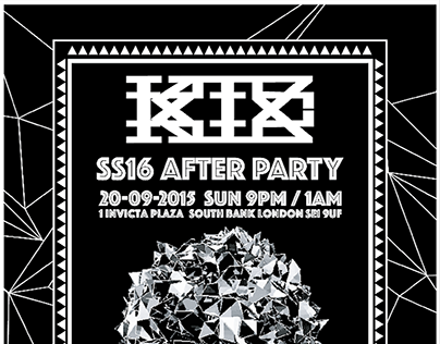 KTZ SS16 London Fashion Week After Party Invitation