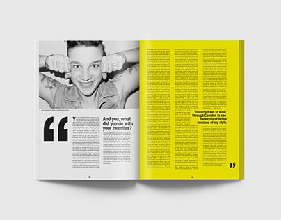 Hamburger Magazine layout design