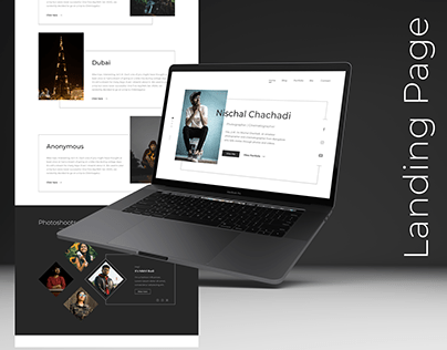 Photographer's Landing page