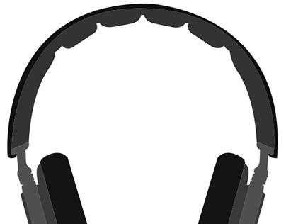 B & O HeadPhones Flat Design