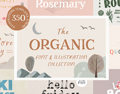 The Organic Font & Illustration Collection