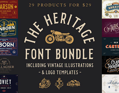 THE HERITAGE FONT BUNDLE - LIMITED TIME ONLY