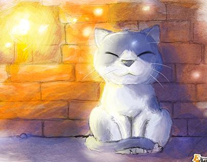 Cat in Chiang mai - Drawing