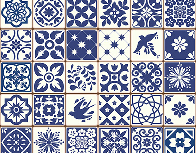 Portuguese Azulejos Tiles Patterns