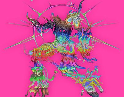 Merch design for Lady Gaga's Dawn of Chromatica