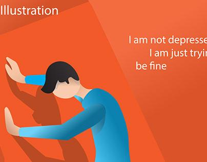 flat illustration (depresstion)
