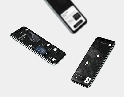 Headphone Control Concept Application