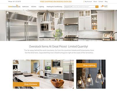 Gem Overstock Homepage Mock-up