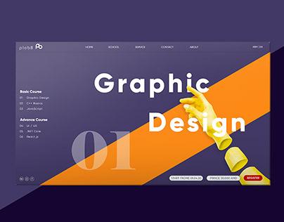"""UIUX Design for """"PLOB 8"""" Website"""
