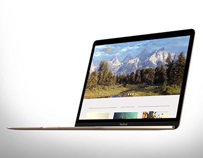 World Around You Homepage Concept