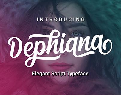FREE | Dephiana Elegant Bold Script Font