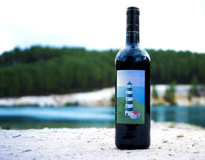 """Illustrations for a wine brand : """"Sea"""" collection"""