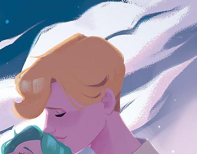 Sailor Moon Illustration: Haruka & Michiru