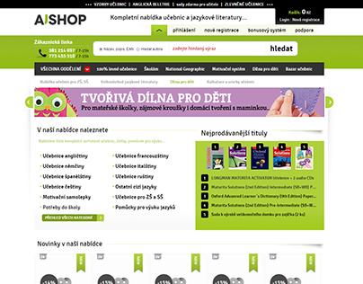 Web Design for a Bookstore / AjShop.cz