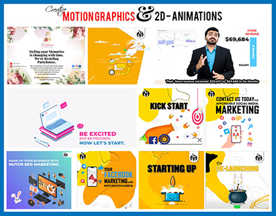Motions Graphics & 2d Animations