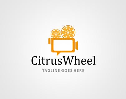 Citrus Wheel Logo Design Template