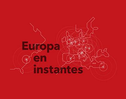 Europa en instantes, catálogo de exposiicón