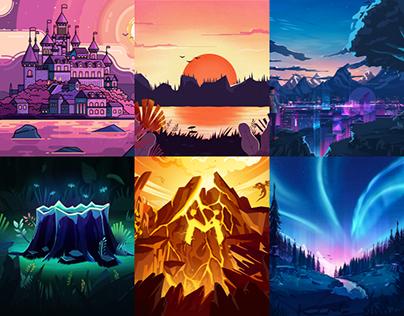 Illustration works of 2018