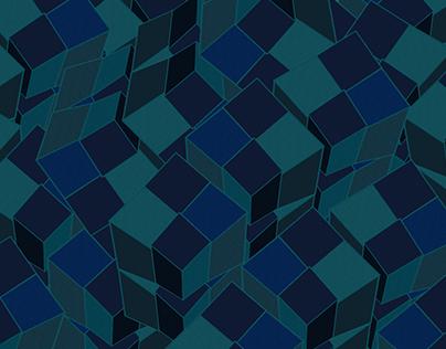 Random Blocks - Blue Theme