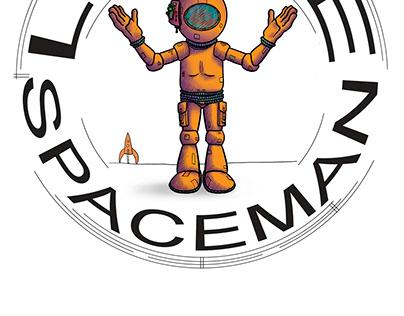 Little Spaceman, character design, logo.