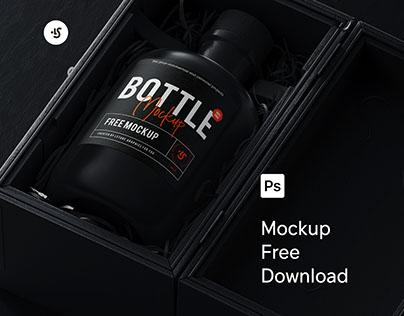 Free Bottle Mockup .psd