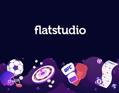 Flatstudio Gambling: Illustration set