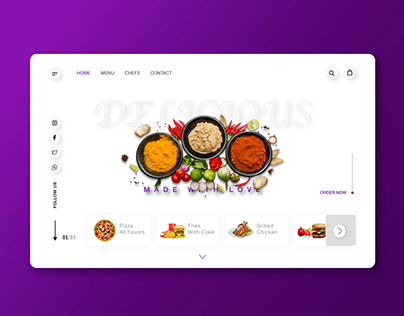 Restaurant website concept