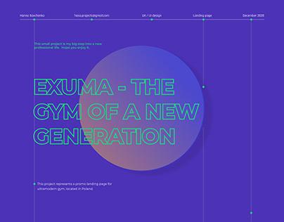 EXUMA GYM   Landing page