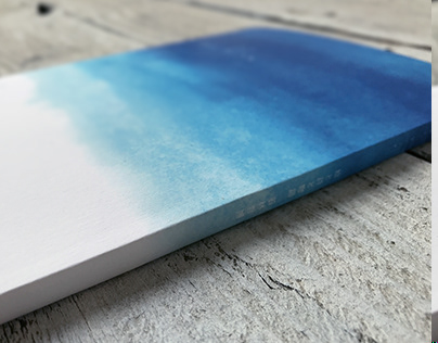 """Poetry and art book """"too blue"""""""
